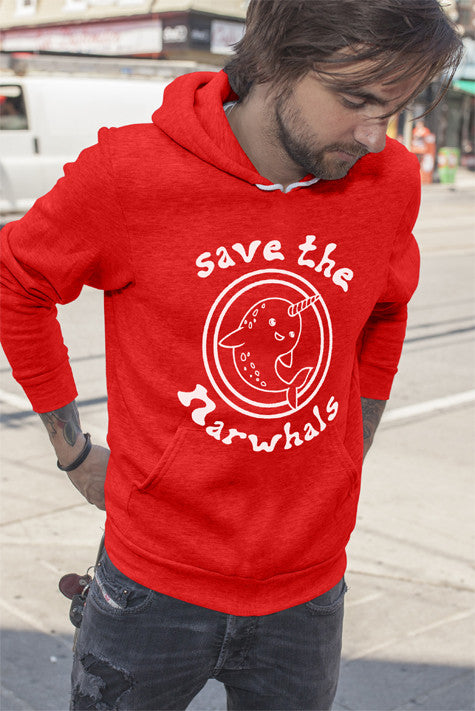 FunkyShirty Save The Narwhals (Men)  Creative Design - FunkyShirty