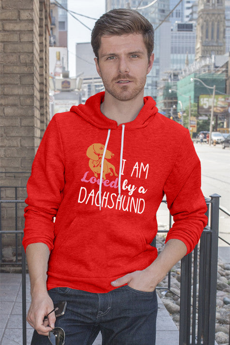 FunkyShirty I am Loved by a Dachshund (Men)  Creative Design - FunkyShirty