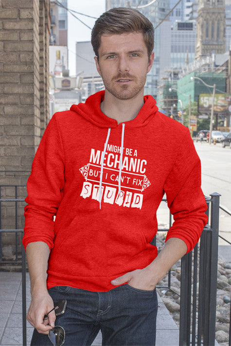FunkyShirty I Might be a Mechanic But i can't Fix Stupid (Men)  Creative Design - FunkyShirty