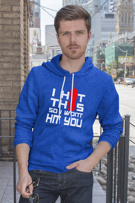 FunkyShirty I HIt This so I Wont Hit You (Men)  T-shirt - FunkyShirty