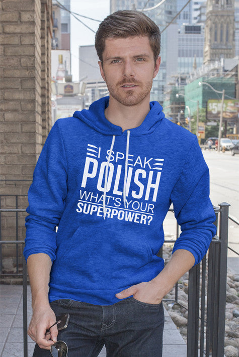 FunkyShirty I Speak Polish what's your Superpower (Men)  T-shirt - FunkyShirty