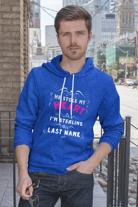 FunkyShirty He Stole my Heart so Im Stealing his Lastname (Men)  Creative Design - FunkyShirty