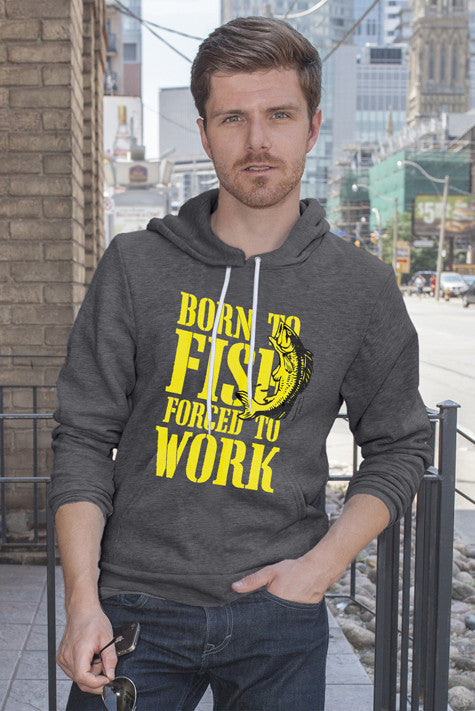 FunkyShirty Born to Fish (Men)  Creative Design - FunkyShirty
