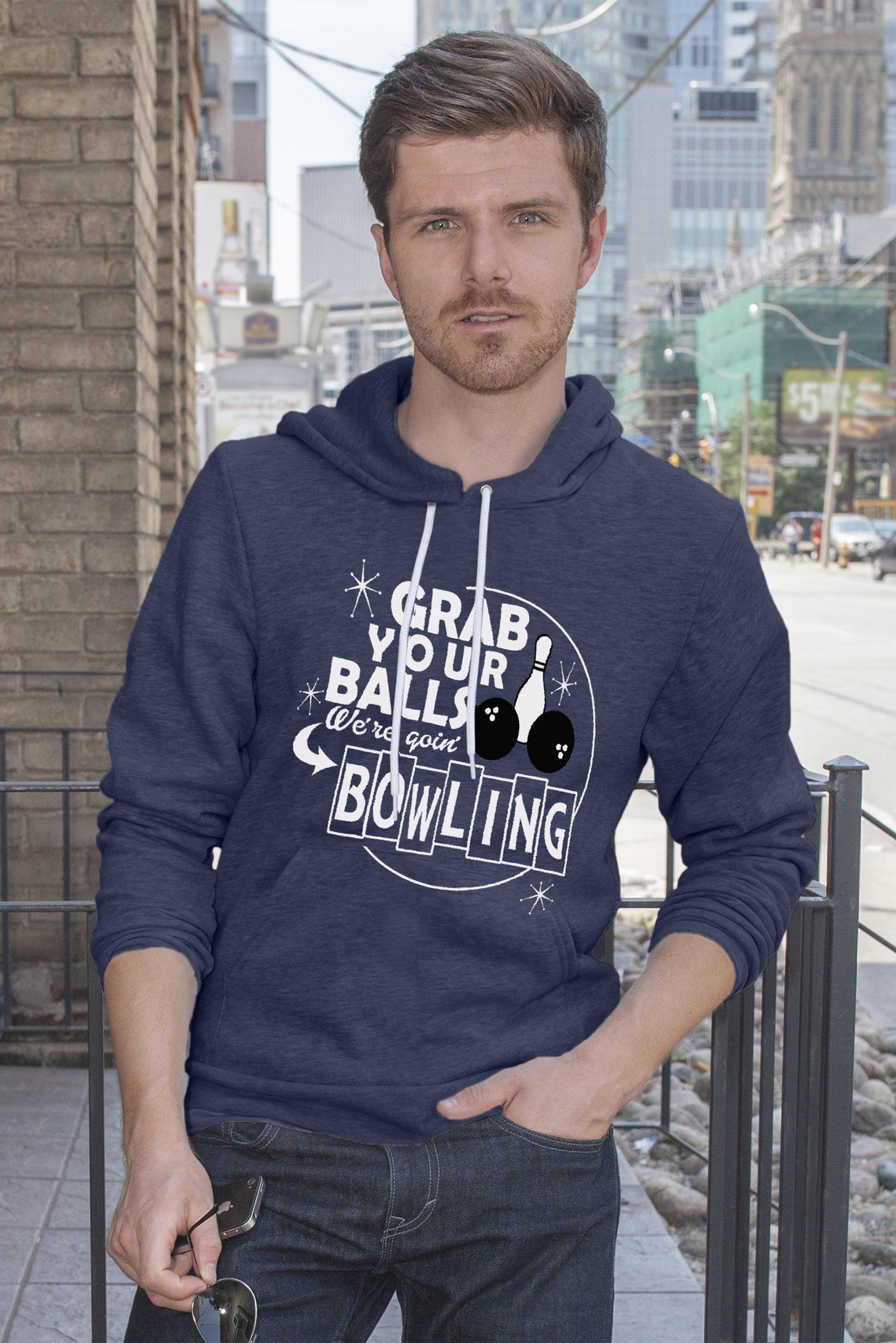 FunkyShirty Grab Your Balls Where goin'Bowling Men)  Creative Design - FunkyShirty