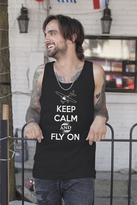 FunkyShirty Keep Calm and Fly On (Men)  Creative Design - FunkyShirty