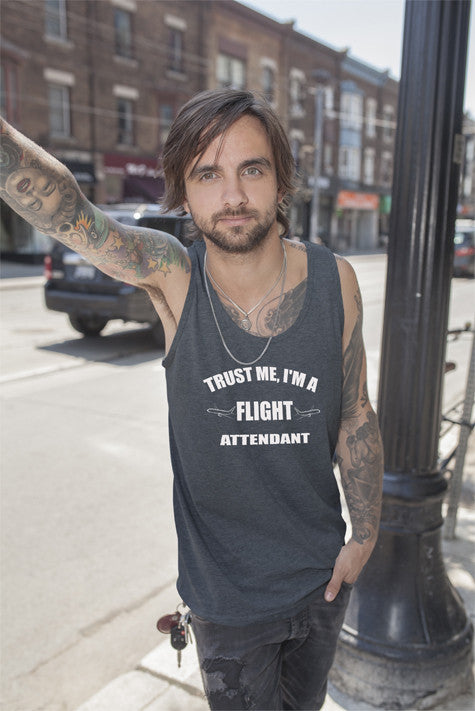 FunkyShirty Trust me Im a Flight Attendant (Men)  Creative Design - FunkyShirty