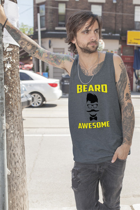 FunkyShirty Beard Awesome  Creative Design - FunkyShirty
