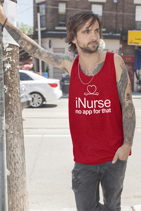 FunkyShirty I Love Nurse no App for That (Men)  Creative Design - FunkyShirty