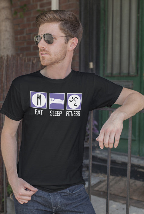 FunkyShirty Eat Sleep Fitness (Men)  Creative Design - FunkyShirty