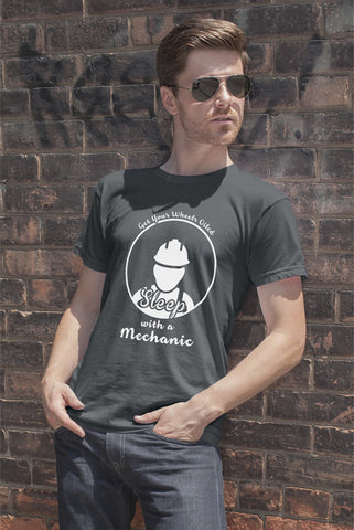 FunkyShirty Get Your Wheels Oiled Sleep with a Mechanic (Men)  Creative Design - FunkyShirty