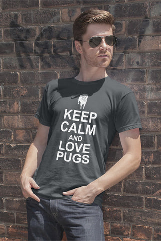 Keep Calm and Love Pugs (Men)