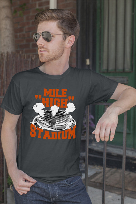 FunkyShirty Mile High Stadium (Men)  Creative Design - FunkyShirty