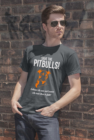 FunkyShirty Save the Pitbulls Euthanize the Men and Women who Train Them to Fight (Men)  Creative Design - FunkyShirty