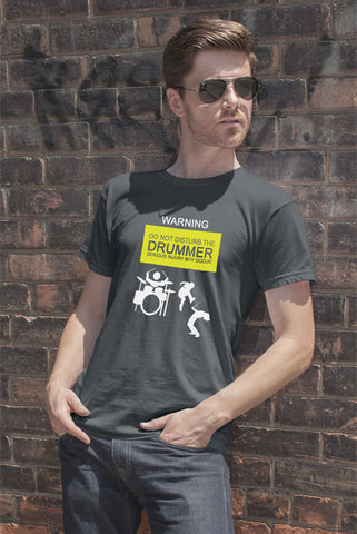 FunkyShirty Warning do not Disturb the Drummer serious injury may Occur (Men)  Creative Design - FunkyShirty