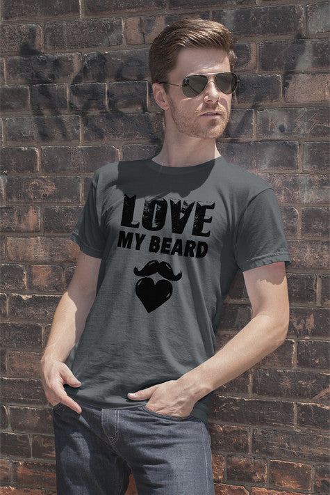 FunkyShirty Love My Beard  Creative Design - FunkyShirty