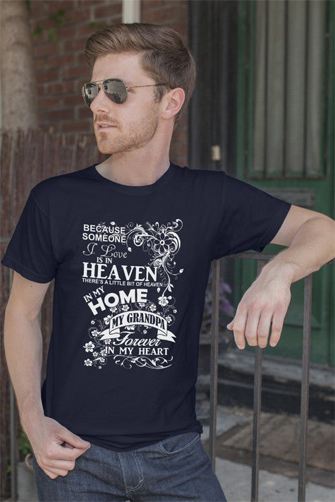 FunkyShirty Heaven Home my Grandpa Forever in my Heart (Men)  Creative Design - FunkyShirty