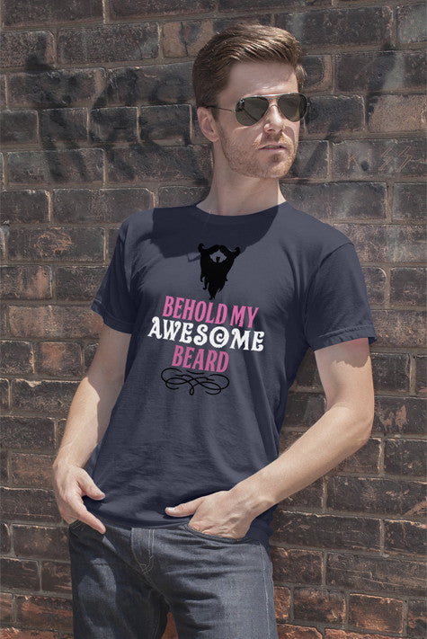 FunkyShirty Behold my Awsome Beard  Creative Design - FunkyShirty