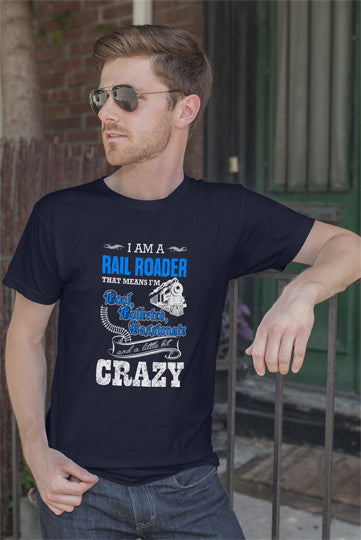 FunkyShirty Rail Roader (Men)  Creative Design - FunkyShirty