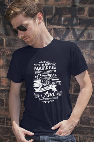 FunkyShirty Aquarius (Men)  Creative Design - FunkyShirty