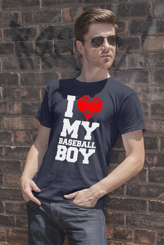 FunkyShirty I Love my Baseball Boy (Men)  Creative Design - FunkyShirty