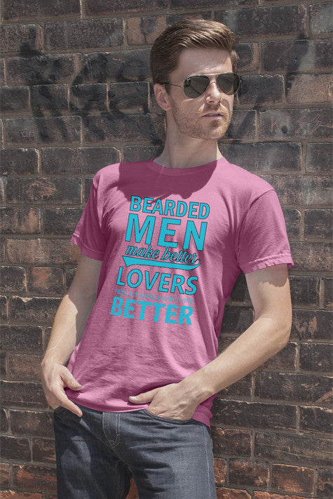 FunkyShirty Bearded Man Lover's Better  Creative Design - FunkyShirty