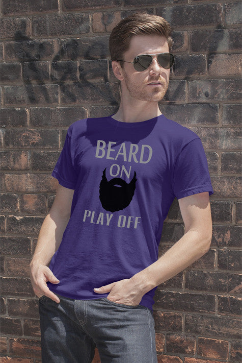 FunkyShirty Beard on Play Off  Creative Design - FunkyShirty
