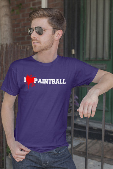 FunkyShirty I Love Paintball (Men)  Creative Design - FunkyShirty