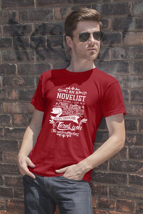 FunkyShirty Novelist (Men)  Creative Design - FunkyShirty