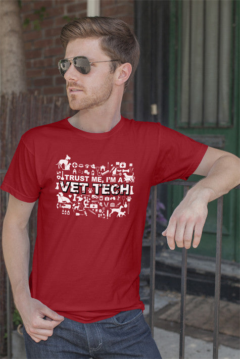FunkyShirty Trust me Im VET TECH (Men)  Creative Design - FunkyShirty