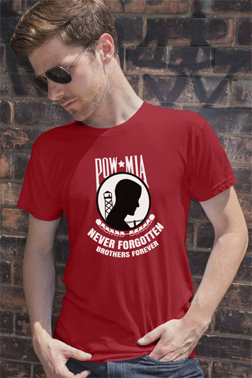 FunkyShirty Pow Mia Never Forgotten Brothers Forever  Creative Design - FunkyShirty