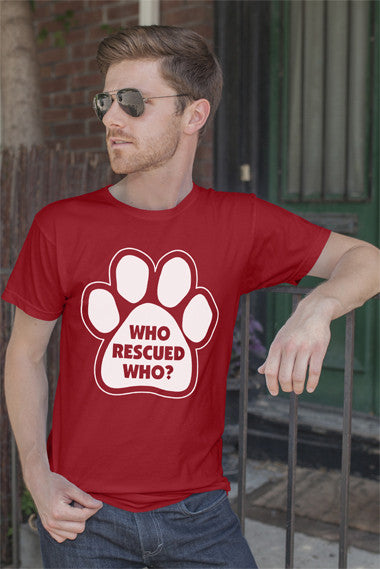 FunkyShirty Who Rescued Who? (Men)  Creative Design - FunkyShirty