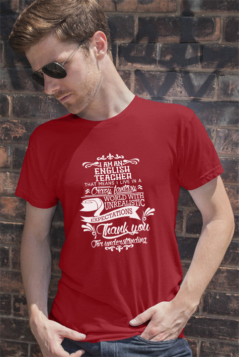 FunkyShirty English Teacher (Men)  Creative Design - FunkyShirty