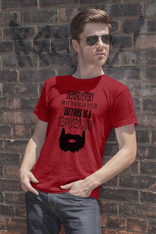 FunkyShirty Tattoos is a Bearded Man  Creative Design - FunkyShirty