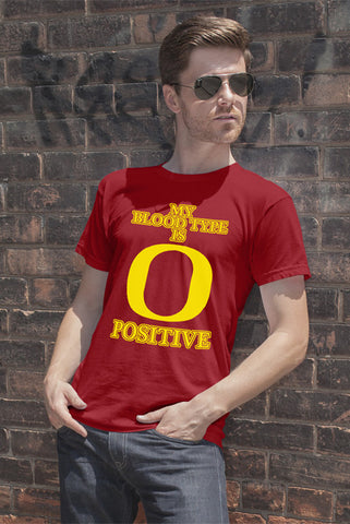 FunkyShirty My Blood Type is O Positive (Men)  Creative Design - FunkyShirty