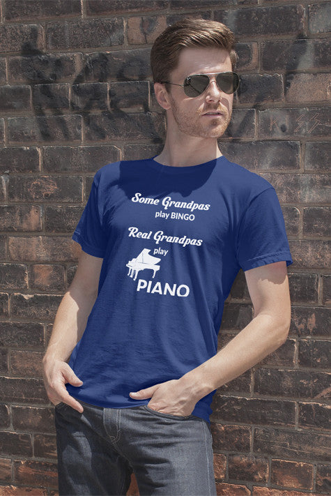 FunkyShirty Some Grandpas Play Bingo Real Grandpas Play Bingo (Men)  Creative Design - FunkyShirty