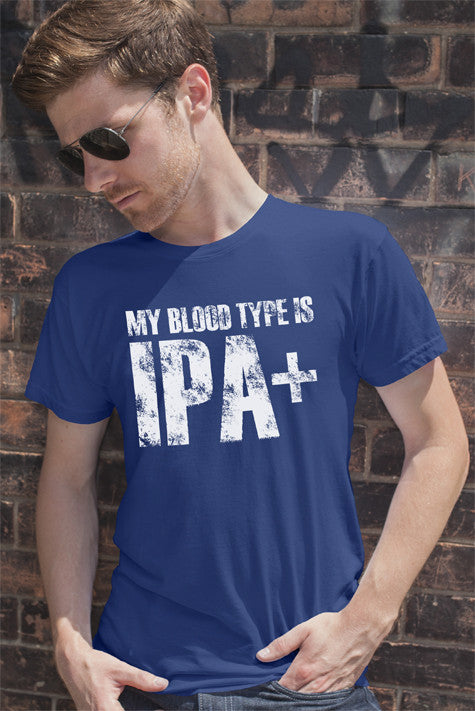 FunkyShirty My Blood Type is IPA+ (MEN)  Creative Design - FunkyShirty