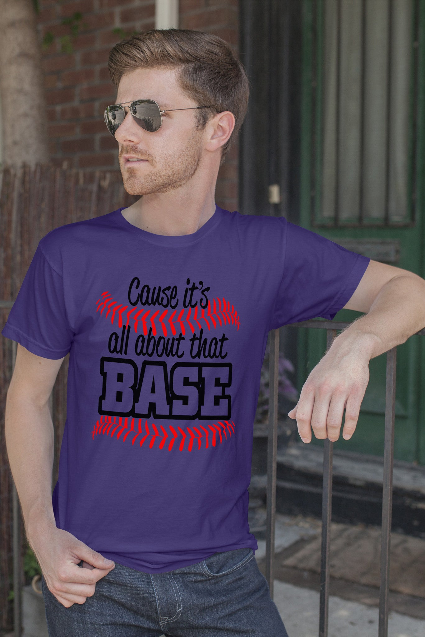 FunkyShirty Cause It's All About That Base (Men)  Creative Design - FunkyShirty