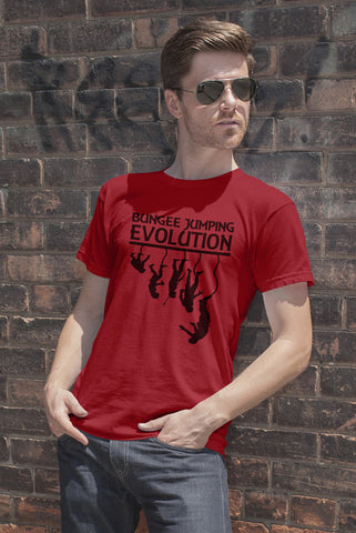 FunkyShirty Bungee jumping Evolution (Men)  Creative Design - FunkyShirty