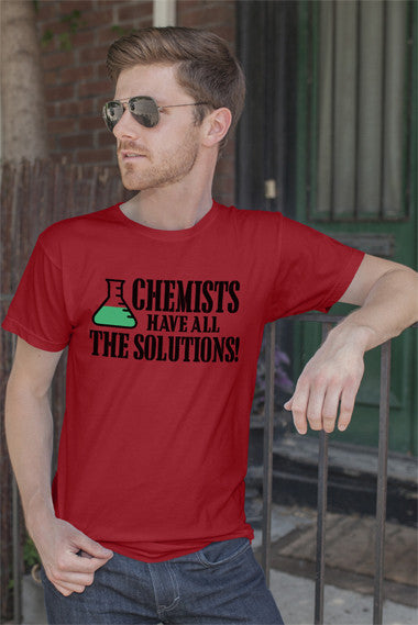 FunkyShirty Chemists have All The Solutions! (Men)  Creative Design - FunkyShirty