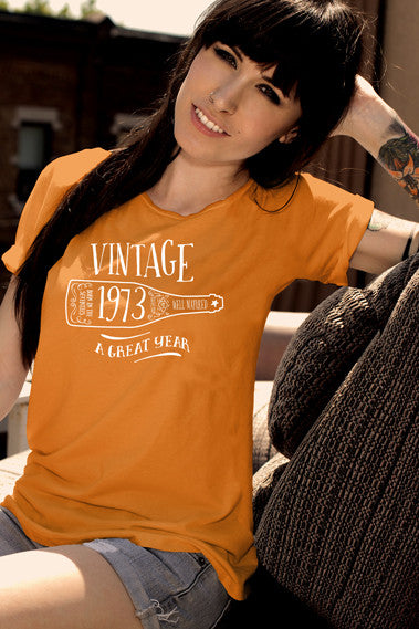 FunkyShirty Vintage 1973 (Womens)  Vintage 1970s - FunkyShirty