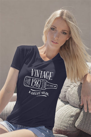 FunkyShirty Vintage 1987 (Womens)  Vintage 1980s - FunkyShirty