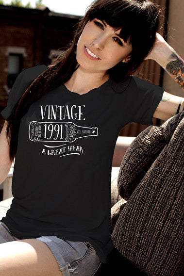 FunkyShirty Vintage 1991 (Womens)  Vintage 1990s - FunkyShirty