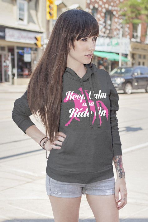 FunkyShirty Keep Calm and Ride On (WOMEN)  Creative Design - FunkyShirty