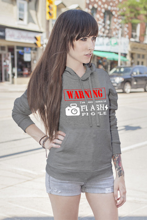 FunkyShirty Warning Ive been known to Flash People (Women)  Creative Design - FunkyShirty