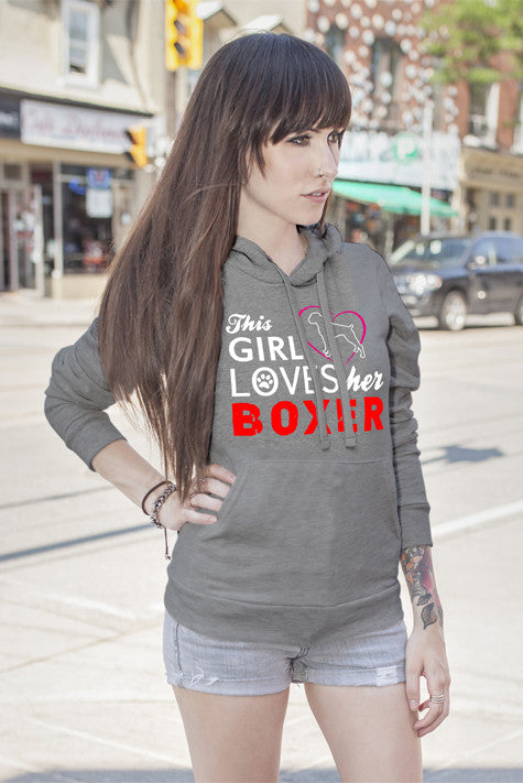 FunkyShirty This Girl loves her Boxer  Creative Design - FunkyShirty
