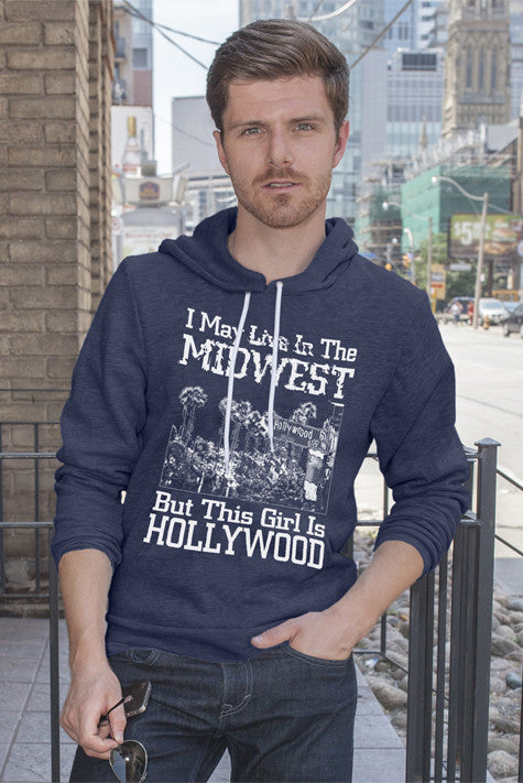 FunkyShirty I may Live in The Midwest But This Girl is Hollywood (Men)  Creative Design - FunkyShirty