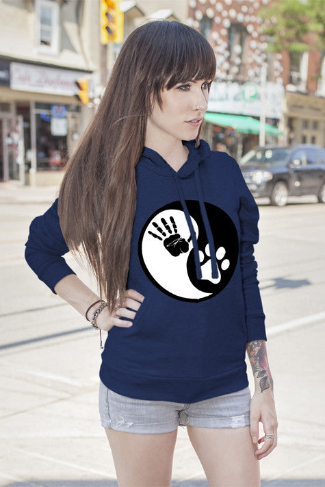 FunkyShirty Hand Paw Yin & Yang (WOMEN)  Creative Design - FunkyShirty