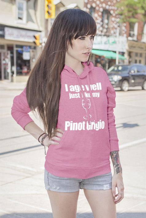 FunkyShirty I age Well just Like my Pinot Grigio (Women)  Creative Design - FunkyShirty