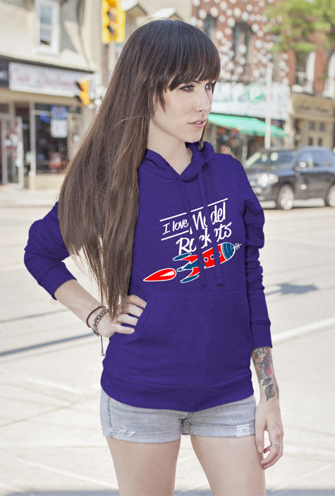 FunkyShirty I Love Model Rockets (Women)  Creative Design - FunkyShirty