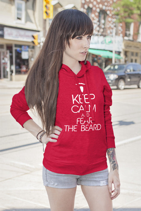 FunkyShirty Keep Calm and Fear the Beard (Women)  Creative Design - FunkyShirty